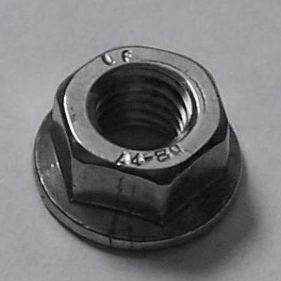 DIN 6923 A4 Flanschmuttern m. Sperrverz. M6, BOX 200 Stück