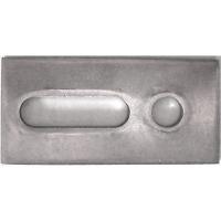Adapterblech 1.4301  R9  82x40x5, VPE 50 Stück